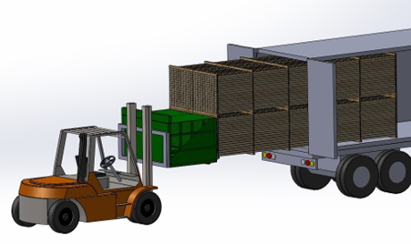 Contruck - Container on trailer - Truck loading device
